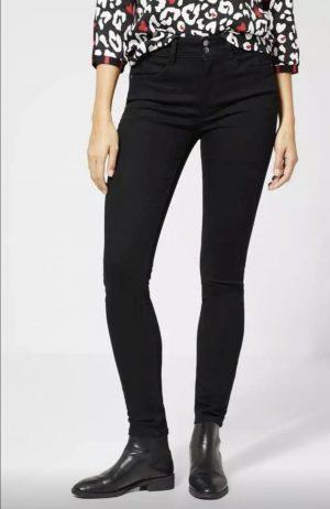 black skinny jeans, black recycled denims, street one black skinny denims, street one black skinny jeans,