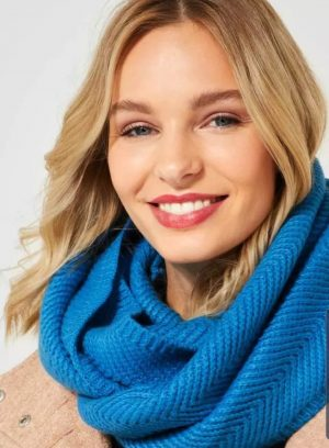 cecil loop scarf cecil active blue loop scarf cecil knitted scarf