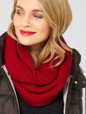 cecil loop scarf cecil red loop scarf cecil knitted scarf