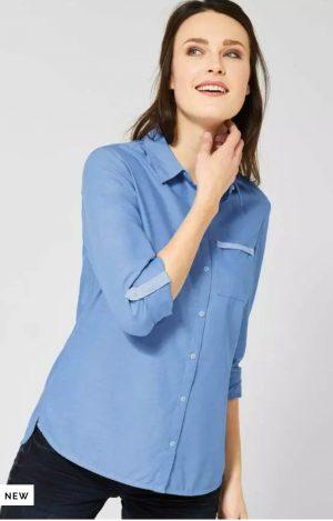 Cecil oxford shirt cecil blue oxford shirt cecil 100% cotton shirt cecil blue shirt