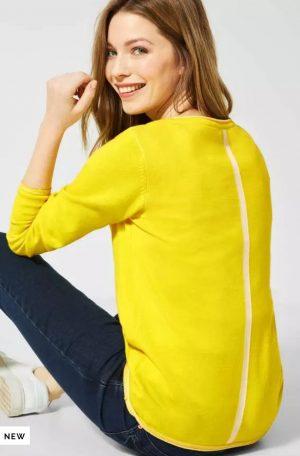cecil yellow cardigan cecil 100% cotton cardigan