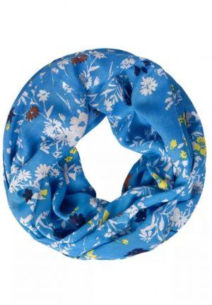 cecil loop scarf cecil print loop scarf cecil vivid blue loop scarf