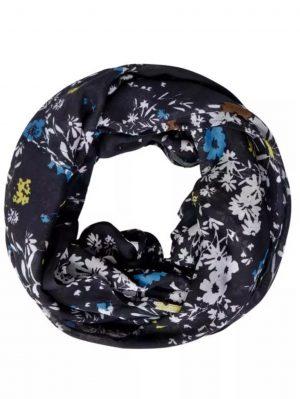 cecil loop scarf cecil print loop scarf cecil navy blue loop scarf