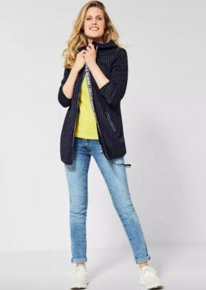 spring jacket navy spring jacket longer length jacket cecil jacket fleece lined ja