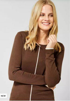 cecil basic sweater cecil crew neck sweater cecil brown sweater