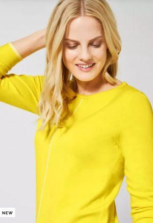 cecil basic sweater cecil crew neck sweater cecil yellow sweater