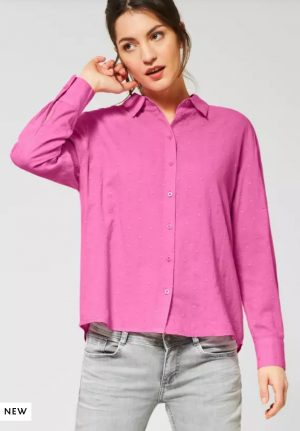 street one pink shirt street one pink cotton shirt street one 100% cotton shirt street one oversized shirt street one crisp pink shirt