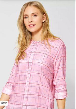 street one mix pattern shirt street one grandfather collar shirt street one pink shirt