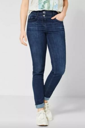 cecil toronto jeans cecil high waisted jeans cecil slim leg jeans cecil 28inch leg jeans cecil mid blue jeans