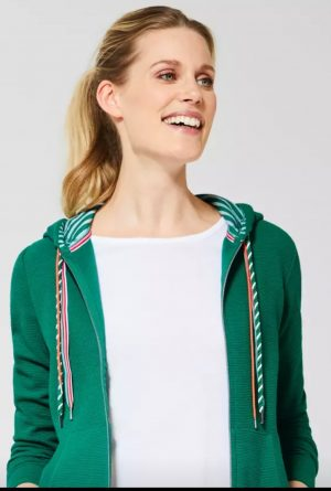 cecil hooded jacket cecil sweat jacket cecil zippy cecil green hoody