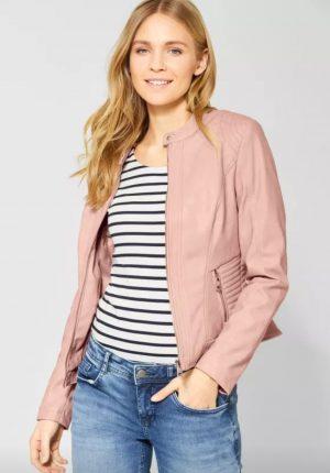 street one leatherette jacket street one pu jacket street one biker style jacket street one pale rose jacket