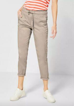 cecil cropped pants elastic waist pants summer crops dark sand crops 7/8th length pants