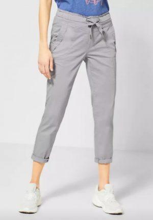 cecil cropped pants elastic waist pants summer crops light grey crops 7/8th length pants