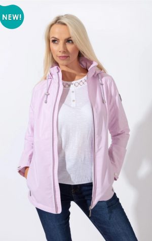paco spring jacket striped outdoor jacket paco pink jacket casual everyday jacket raincoat rainjacket