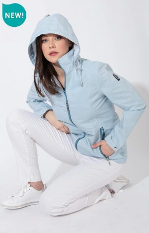 paco spring jacket striped outdoor jacket paco blue jacket casual everyday jacket raincoat rainjacket