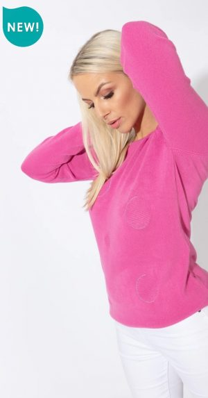 paco circle cahsmillon sweater pink paco jumpe paco knitwear