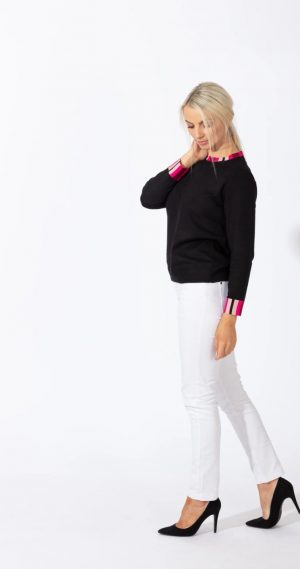 paco stripe band jumper paco sweater paco jumper paco knitwear