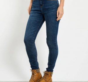 weirdfish jeans 11744 skinny jeans high waist regular length blue jeans