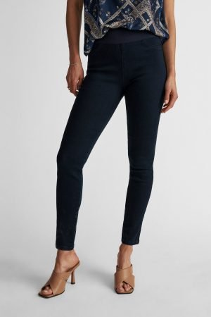 freequent skinny denim with tummy tucking high waist blue