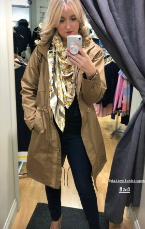 freequent fqmalina l ja longer length tan raincoat trenchcoat