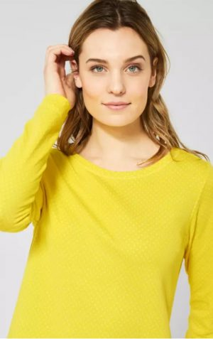 cecil 314562 yellow sweathshirt with drawstring bottom