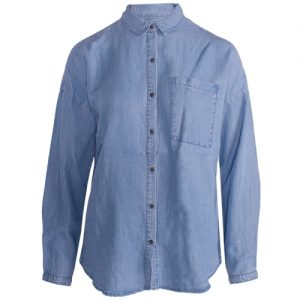 fqwayne sh light blue denim by freequent lightweight denim ladies shirt casual wear shirt