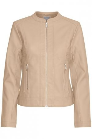 pu jacket byoung acom jacket almond nomad faux leather jacket