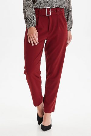 Frgisuit 1 Pants 60127 by Fransa straight leg trousers with belt and 2 front pockets