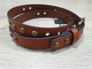 tan studded belt for jeans