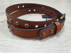 tan studded belt for jeans