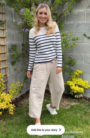 Freequent Ava-Pu-Stripe White/Navy nautical summer knit
