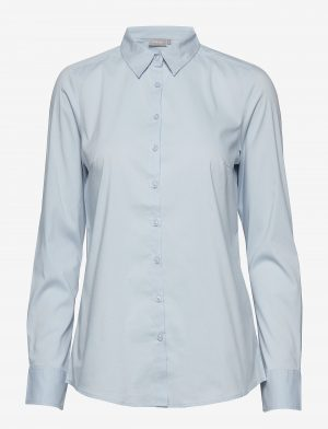 Zashirt Cashmere Blue by Fransa cotton mix shirt long sleeve shirt with stretch