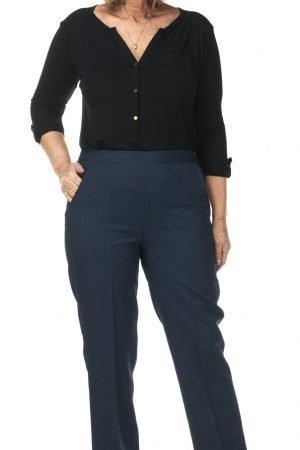 "Pinns Iris trousers teal green 29"" leg half elastic waist"