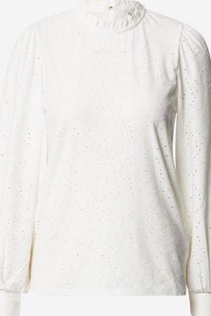 freequent blond long sleeve dressy top off with high neck