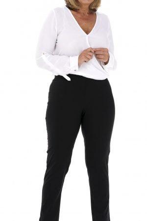 pinns elastic jeggings with high waist ankle grazer length black
