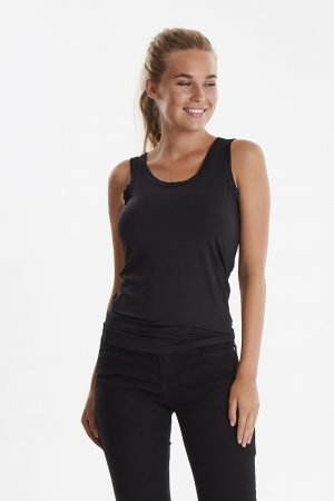 b young iane vest top black