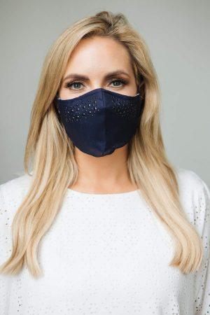 jessica graafe diamonte navy face mask