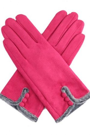 fushia pink gloves