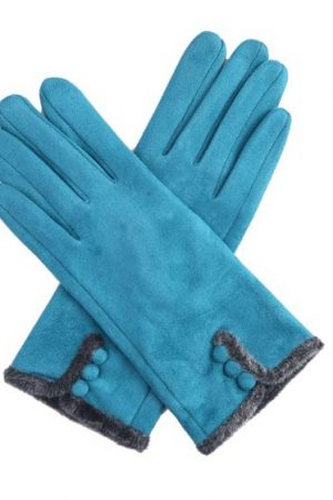 teal gloves