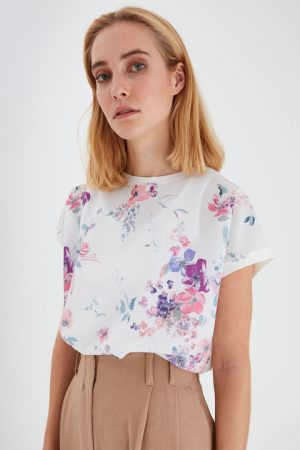 byoung print front t shirt