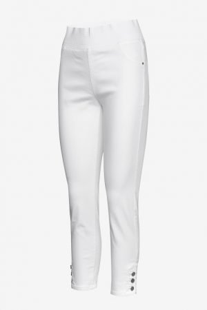 freequent shantal 7/8th ankle grazer jeggings with high elastic waist band white