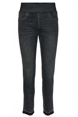 freequent shantal ankle denims black with raw edge