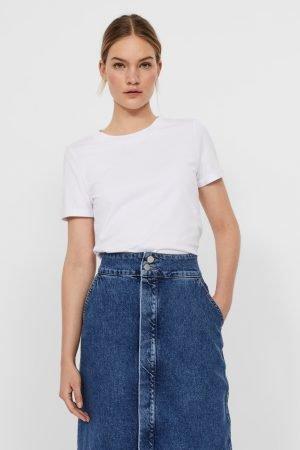 vero moda plain white t-shirt