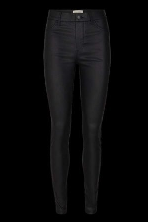 freequent black skinny jeggings with elastic waist