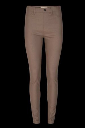 freequent brown skinny jeggings with elastic waist